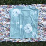 絞り染めフレンチスリーブTシャツ(天然染料)