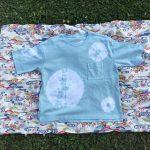 クールネックワイド五分袖Tシャツ(エメラルドグリーン)