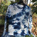 長袖藍染めTシャツ